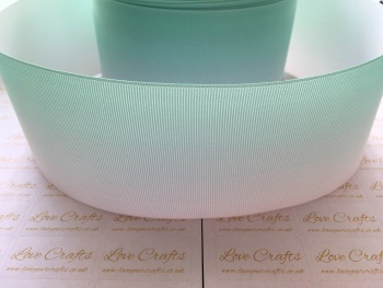 Mint/Aqua Ombre Grosgrain Ribbon