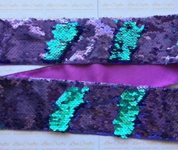 "3"" Purple to Turquoise Sequin Change Ribbon"
