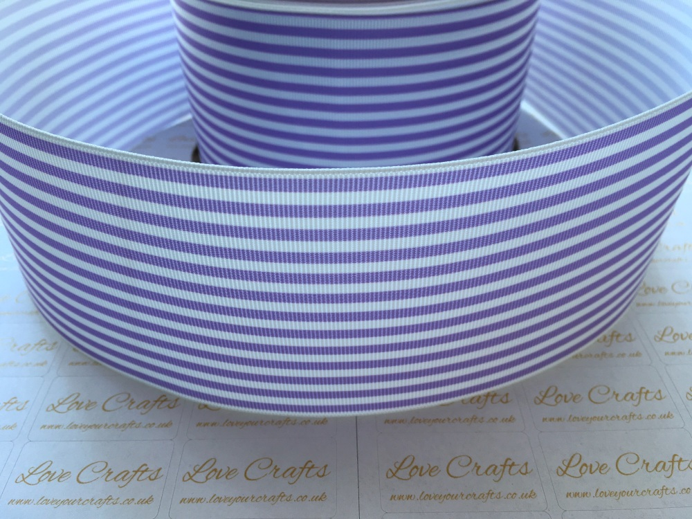 Hyacinth Pinstripe Grosgrain Ribbon