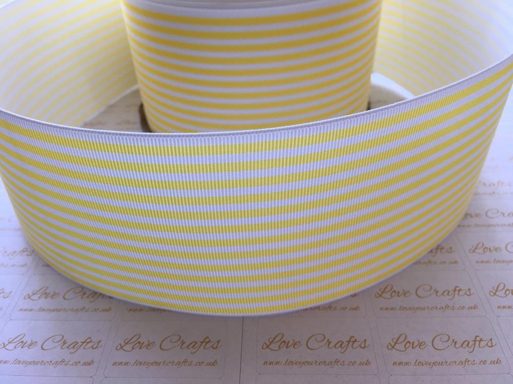 Lemon Pinstripe Grosgrain Ribbon