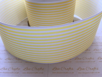 Lemon Pinstripe Grosgrain Ribbon