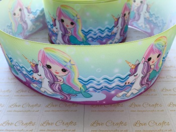 Mermaids & Unicorns Grosgrain Ribbon