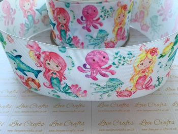 Mermaids Under The Sea Grosgrain Ribbon