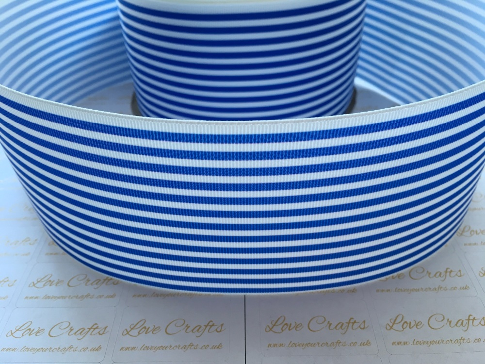 Royal Pinstripe Grosgrain Ribbon