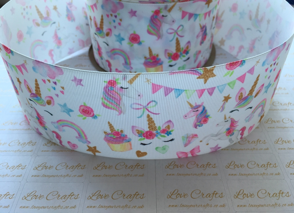 Unicorn Goodies Grosgrain Ribbon