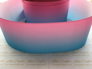 Light Blue/Light Pink Ombre Grosgrain Ribbon