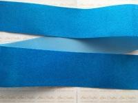 """3"""" Neon Blue Glitter Grosgrain Ribbon"""