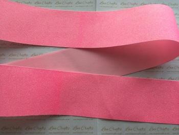 "3"" Neon Pink Glitter Grosgrain Ribbon"