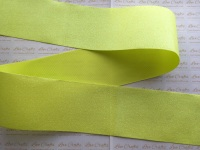 "3"" Neon Yellow Glitter Grosgrain Ribbon"