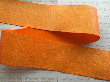 "3"" Orange Glitter Grosgrain Ribbon"
