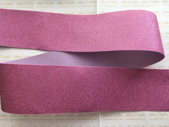 "3"" Pinky Purple Glitter Grosgrain Ribbon"