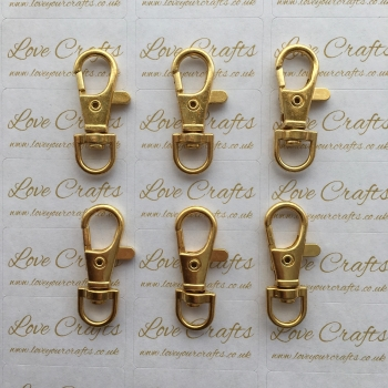 Gold Lobster Swivel Clasp