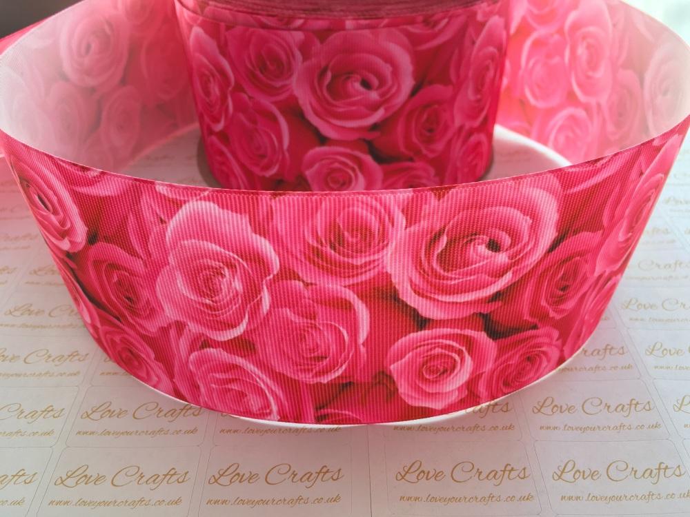 Hot Pink Rose Grosgrain Ribbon