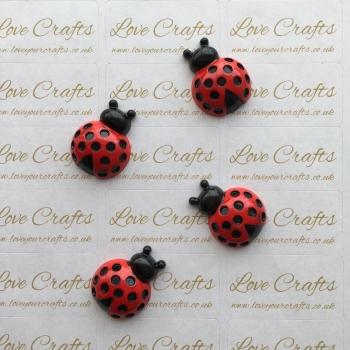 Ladybug Flatback Resin