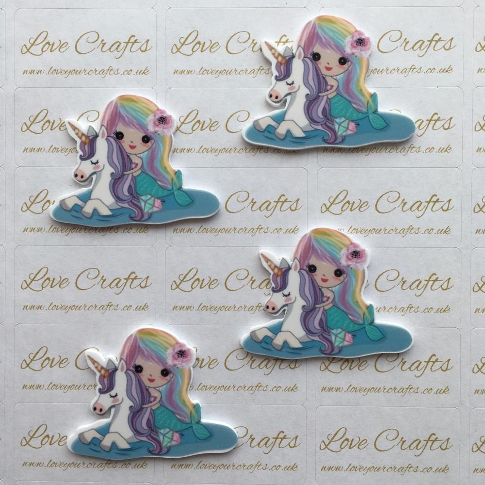 Mermaid & Unicorn Laser Resin