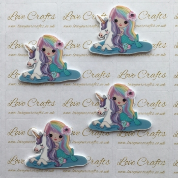 Mermaid & Unicorn Laser Resin