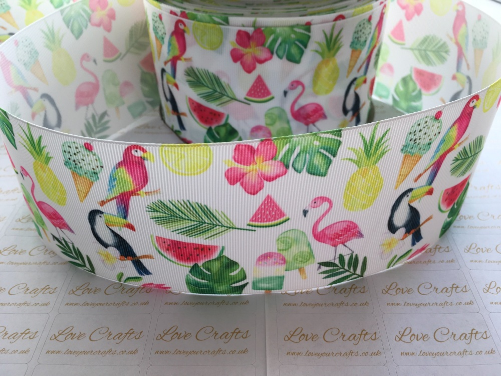 Tropical Grosgrain Ribbon