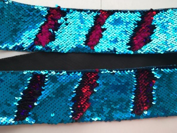 "3"" Blue to Hot Pink Sequin Change Ribbon"