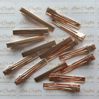 10 - 55mm Rose Gold Alligator Hair Clips