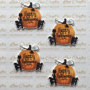 Happy Halloween Laser Cut Resin