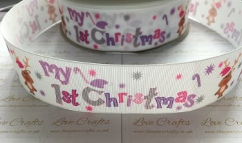 My 1st Christmas Grosgrain Ribbon