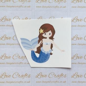 LC Ribbon Transfer - Brown Hair Mermaid