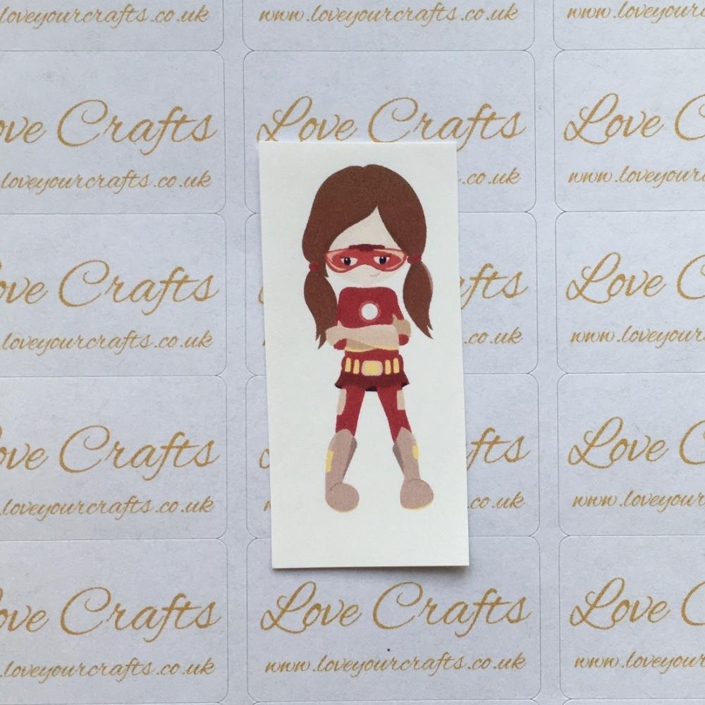 LC Ribbon Transfer - Brown Hair Supergirl 1