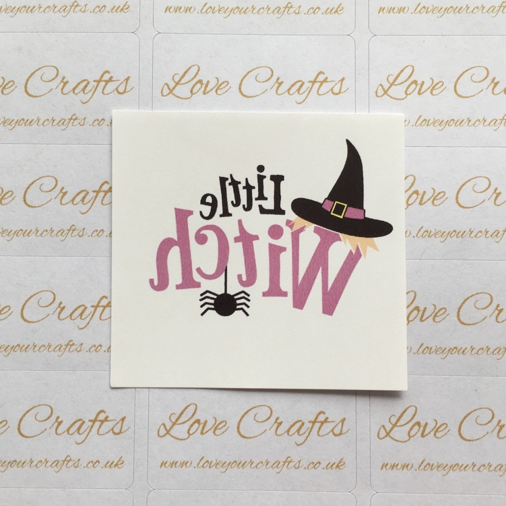 LC Ribbon Transfer - Halloween 'Little Witch'