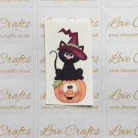 LC Ribbon Transfer - Halloween Cat & Pumpkin