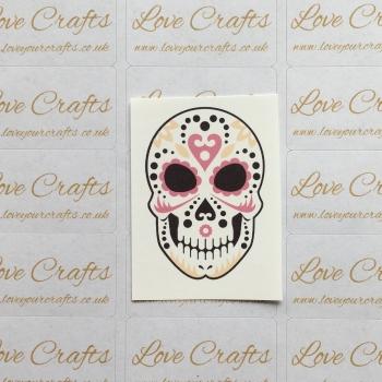 LC Ribbon Transfer - Halloween Skull