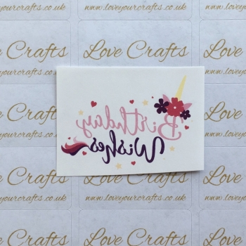 LC Ribbon Transfer - 'Birthday Wishes'