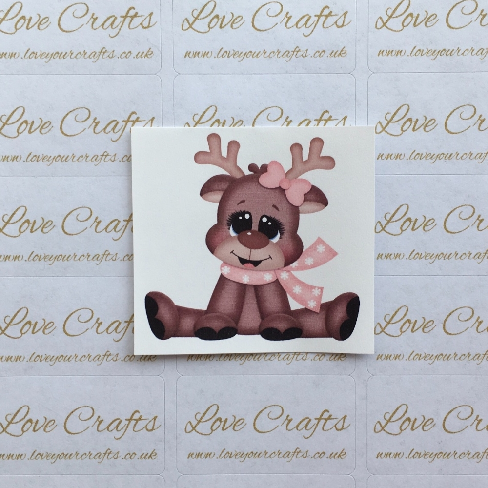 LC Ribbon Transfer - Reindeer Bow