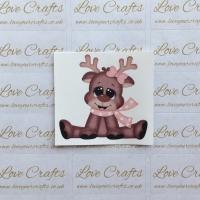 LC Ribbon Transfer - Reindeer Bow