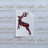 LC Ribbon Transfer - Tartan Reindeer