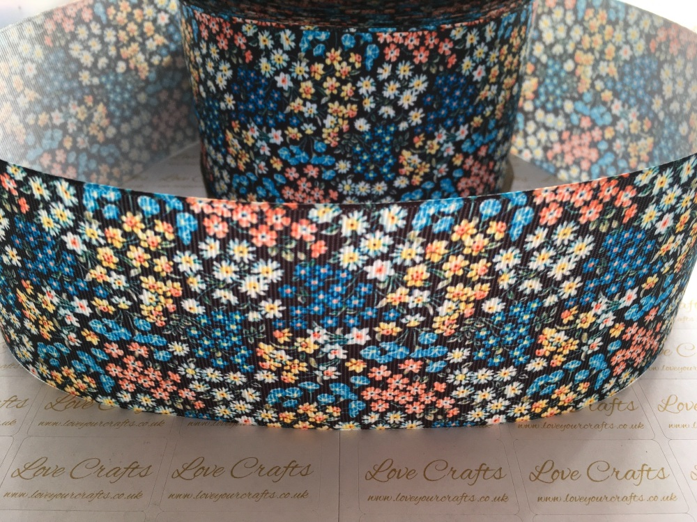Lily Ann Floral Grosgrain Ribbon