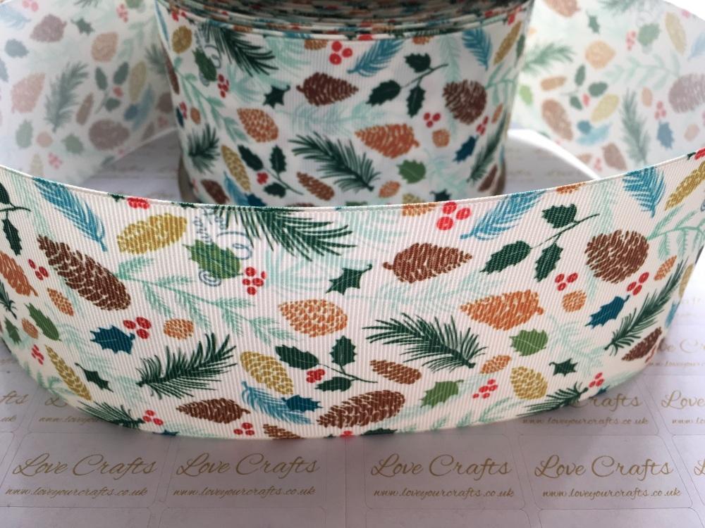 Pine Fresh Grosgrain Ribbon
