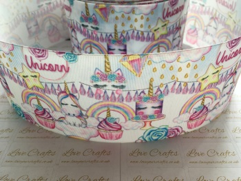 Unicorn Birthday Grosgrain Ribbon