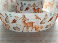 Woodland Animals Grosgrain Ribbon