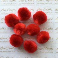 25mm Red Pom Pom