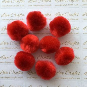 25mm Red Pom Pom