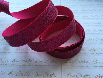 "7/8"" - 22mm - Azalea Glitter Grosgrain Ribbon"