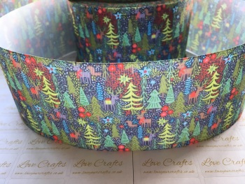 Christmas Evergreen Grosgrain Ribbon