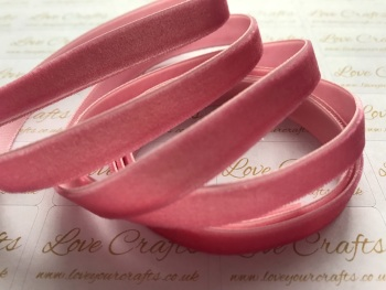 9mm Velvet Ribbon - #168 Colonial Rose