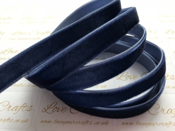 9mm Velvet Ribbon - #370 Navy