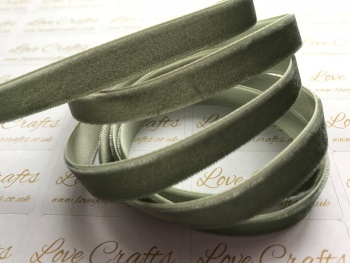 9mm Velvet Ribbon - #569 Deep Sage