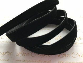 9mm Velvet Ribbon - #030 Black