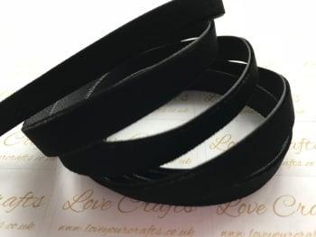 9mm Velvet Ribbon - #030 Black