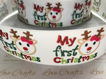 My First Christmas Grosgrain Ribbon