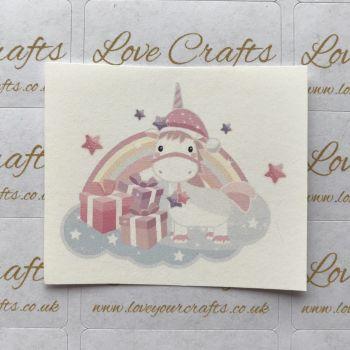 LC Ribbon Transfer - Christmas Unicorn