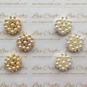 Pearl Rhinestone Bling Centre